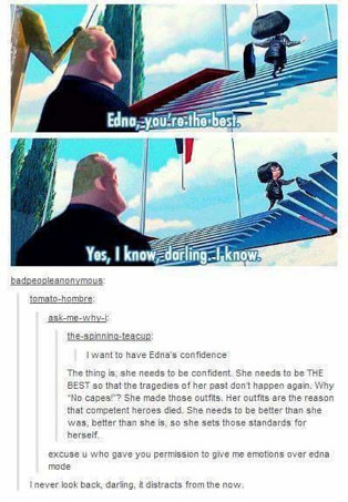 Scene from the movie The Incredibles