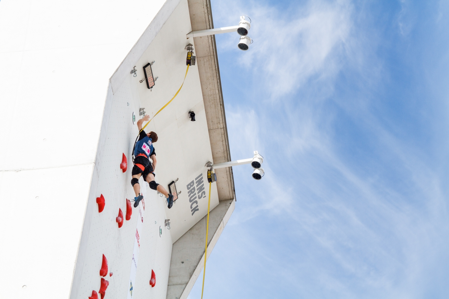 Speed climber at the 2017 IFSC Youth World Championships at Innsbruck, Austria | Photo credit: Jennie Jariel