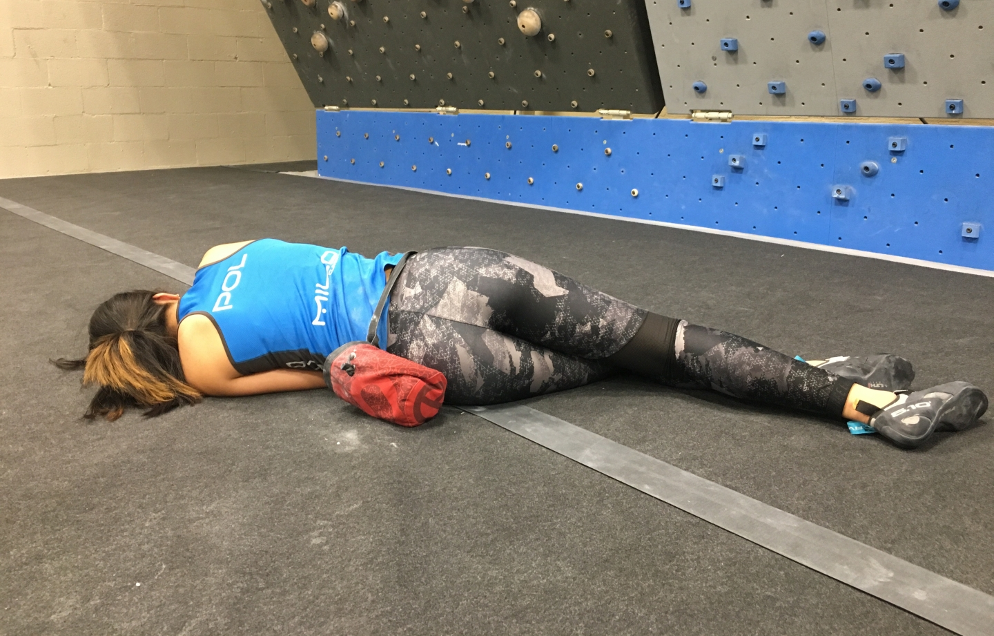 Exhausted climber